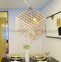 Wholesale Hanging Square Light Fixtures - Modern k9 square LED crystal chandeliers dining room lights kitchen lighting staircase lamp hanging lights light fixtures MYY