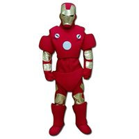 Wholesale Iron Man Mascots Costume - Red Iron Man Mascot Costume Fancy Birthday Party Dress Halloween Carnivals Costumes With High Quality For Adult