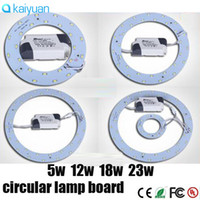 Wholesale Ceiling Boards - sale SMD 5730 led 5W 12W 15W 18W 23W Ring PANEL Circle Light AC85-265V LED Round Ceiling board the circular lamp board for Kitchen Bedroom