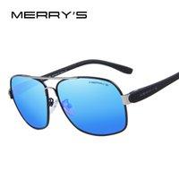 Wholesale Men S Fashion Accessories - Wholesale-MERRY'S Men's TR90 Fashion Sunglasses Polarized Color Mirror Lens Eyewear Accessories Driving Sun Glasses S'8501