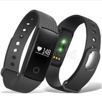 orangenherzknopf großhandel-Günstige id 107 id107 für iphone x smart band smart watch bluetooth smart wristbands armband mit metallknopf pulsmesser + paket