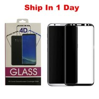 Wholesale Glass 3d - High Quality Tempered Glass 3D Curved Full Coverage For Galaxy Note 8 S8 Plus S7 Edge S6 Edge Plus Full Clear Transparent
