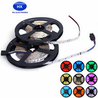 Super Light 3528 SMD Impermeable 60 LEDs / M 120LEDs / M Caliente Blanco Rojo Verde Azul Amarillo 5M / Roll Flexible LED Strip Lights DC12V