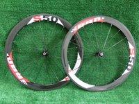 Wholesale Carbon Bike Wheel Sram Hub - Fast shipping Carbon Fiber Clincher racing Road Bike 50mm SRAM Carbon wheels +novatec hub+quick release glossy matte