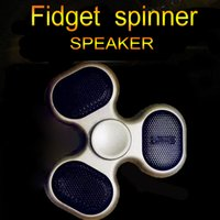 Nouvelle annonce Song LED Flashing Light Spinner à la main Bluetooth Speaker Finger Toys TF Card Play Creative Mini Portable Finger Spinner Gyro Toys
