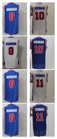 Wholesale Cheap Baseball Uniform - Men 11 Isiah Thomas Uniforms Throwback 10 Dennis Rodman Jersey Shirt 0 Andre Drummond Cheap wholesale Embroidery jerseys