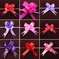 Wholesale Beautiful Pull Bow Wedding Flower Ribbon Bow Knot Flower Wedding Party Door Car Decorations Christmas Decor Gift Box Flower
