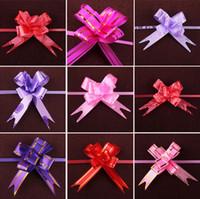 blumentür zieht großhandel-Schöne Zug Bogen Hochzeit Blume Band Bogen Knoten Blume Hochzeit Tür Auto Dekorationen Weihnachtsdekor Geschenk Box Blume