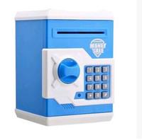 Wholesale Atm Piggy Banks - Automatic Money Password Safe Deposit Painted ATM Save Money Tank Mini Safe Creative Piggy Bank