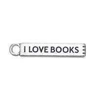 Wholesale Engravings Book - Lowest Price Zinc Alloy Engrave Letter I Love Books Charm for Student Gift Jewelry