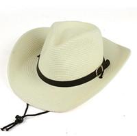 Wholesale Beach Hood - High quality Men's West Cowboy Ladies Tide Beach Cap Sunscreen Big Hooded Hat Summer Hood Hood Shirt EMB033