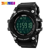 Wholesale Skmei Waterproof - SKMEI Men Smart Watch Pedometer Calories Chronograph Fashion Sport Watches Chronograph 50M Waterproof Digital Wristwatches 1227