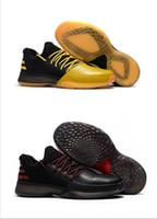 chaussures de l'école primaire achat en gros de-Dernier James Harden Vol.1 Noir Mois D'histoire Orange Or Pour Hommes Chaussures De Basket-ball Harden Vol.1 Bas BHM Baskets Scolaire