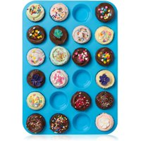 Mini Muffin Punker Biskuit Pfannen 24 Cupcakes Silikon Mold Cups Mold Non Stick Tray Bakeware Backen Werkzeuge