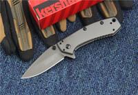 ingrosso coltello fisso migliore della tasca-Kershaw 1555TI Titanium Coltello pieghevole pieghevole Hinderer Design Flipper Campeggio Caccia sopravvivenza Pocket Knife 8Cr13Mov Utility Collezione EDC