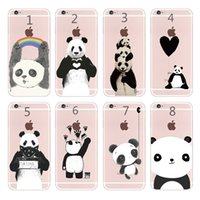 Niedlichen Cartoon Tier Schöne Pandas Phone Cases für iPhone4 4 s 5 5 s SE 6 6 s 6 s Plus 7 7 s 7 s Plus
