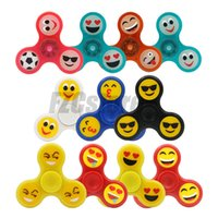 Wholesale Wholesale Led Suppliers - Wholesale Supplier OEM Emoji luminous Tri Fidget Spinner VS LED Plastic ABS Spinner Stress relief EDC Glow spinner with CE Certification