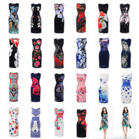 Wholesale Womens Sheer Briefs - Women's Clothing 2017 summer fashion vintage black plus size Street Style party bodycon dresses pencil dress for womens women clothes #1731