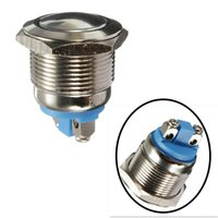 Wholesale Push Starter Switch - New 19mm 12V Car Waterproof Metal Push Button ON OFF Horn Switch Engine Starter Silver IP65
