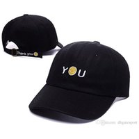 Wholesale Smile Letters - 2017 new Fashion Drake Caps Harajuku style baseball cap Smiling face YOU Embroidery Outdoor Sports Casquette Sun Fishing Hiking Hats Hip Hop