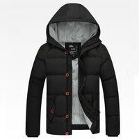 Wholesale Mens Winter Down Coats Sale - Wholesale- Fashion New Arrival Mens Winter Jackets Korean Skinny Slim Style Men Coat Thick Warm Man Overcoat Hot Sale Y00255