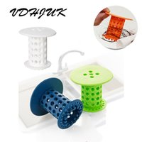 Wholesale Bathroom Sink Stoppers - 2017 New Drain Stopper Hair Catcher Sink Strainer Shower Bathtub Plug Cleaning Protector Filter For Kitchen Bathroom