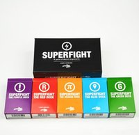 2017 SUPERFIGHT Cartes Game Base et l'expansion Red Blue Orange Purple Green Card Game Comparer à Cards Of Humanity Classic