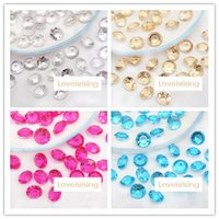 Wholesale Diamond Confetti Colors - 16 Colors--Wholesale 1set=1000pcs 10mm (4 Carat) Aque Blue Diamond Confetti Acrylic Bead Weding Party Decoration-Free shipping