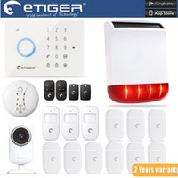 Wholesale G5 Wifi - LS111- ES-S3B Solar Sirenfor Outdoor eTIGER GSM PSTN Burglar Alarm System For Home Safe WiFi Network Camera as same as chuango G5