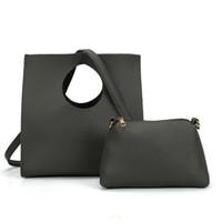 Wholesale Unique Totes - ANNA JONES Woman Handbag Composite Bag Brand Designer Simple Causal Totes Unique Designer PU Leather Shoulder Bags VK5119