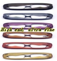 óculos de sol de visão distante venda por atacado-PODREADER moda Óculos de Leitura, Mini Óculos de Leitura Dobrável, Homens Mulheres Óculos de Presbiopia de Plástico 360 graus virar dobrável bom