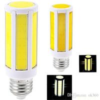 mısır koçanı led ışıklar toptan satış-Yüksek Parlak E27 / E14 / B22 LED COB Mısır Işık 7 W / 10 W / 12 W Sıcak Beyaz / Soğuk Beyaz Işık Mısır Ampul AV220V / 110 V 360 Derece