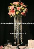 акриловые подставки для центральных частей оптовых-Красивые акриловые Кристалл свадьба цветок стенд центральные