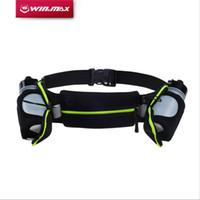 Wholesale Running Water Bottle Belt - WINMAX New Running Belts Exercise Climbing Camping Cycling Runner Bag Waist Packs With 2 Water Bottles For Men & Women