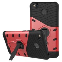 Wholesale Xiaomi Holster - For Xiaomi Redmi 4X Case Rotation Rugged Combo Hybrid Armor Bracket Impact Holster Protective Cover For Xiaomi Redmi 4X