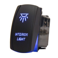 Wholesale Boat Interior Led Light - Car Toggle Switch Laser Interior Light Rocker Switch 5 PINS 20 Amp 12 Volt Rocker Switch Blue LED for Car Motor Boat