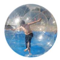 Wholesale tizip ball water - Free Shipping High Quality TPU Water Walking Ball Walker See Through Aqua Zorbing Sphere with German Tizip Zip Diameter 5' 7' 8' 10'