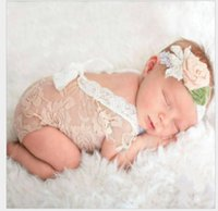 Wholesale Wholesale Lace Petti Romper Sale - Hot Sale Fashion Newborn Baby Lace Romper Girl Cute Summer petti Rompers Jumpsuits Infant Toddler Photo Clothing Soft Lace Bodysuits 0-3M