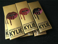 Wholesale Wholesale Factory Prices - Factory Price 49 colors Kylie Jenner kit Lip Gloss Lipstick Kylie Jenner Lip liner+ lipgloss liquid lipstick matte kylie lip kit LEO Maliboo