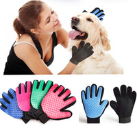 Wholesale Hair Packing Box - Five Fingers True Touch Dog Cat Cleaning Gloves Silicone Deshedding Glove Pet Grooming Brush Comb Hair Clean up Tools Box Pack WX-G03