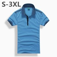 Wholesale Stripe Shirt Plus - Men's High quality Letters embroidery Casual Breathable Mens Stripe Polo Shirt Brands Cotton Camisa Polos Hombre Tops Polos Homme Summer