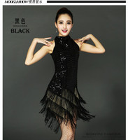 Wholesale latin dance show - Fringed dress sexy female costume Latin dance bar DJ DS stage girl dress for singer dancer star nightclub performance show