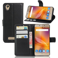 Wholesale Leather Case For Zte - Vintage Wallet Leather Phone Case For ZTE Blade A452 Flip Cover Luxury Case For ZTE A452 Coque With Stand + 2 Card Slots
