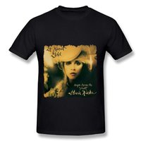 Wholesale New T Shirt Song - Stevie Nicks 24 Karat Gold Songs From Vault Men's Black Cotton T-Shirt Men 2017 Summer Fashion New Spring and summer printing Cheap sold