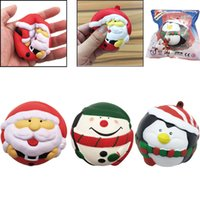 Wholesale Santa Claus For Man - Christmas Santa Claus Snowman Squishy Toys Kawaii Snow Man Slow Rising Scented Phone Charms Gift for Kids