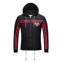 Wholesale Hooded Winter Trench Coat Men - Luxury Designs 2017 Autumn Winter Men Striped Jackets Leopard Fashion Male Casual Coats Trench Outwear Women Overcoat Black XXXL
