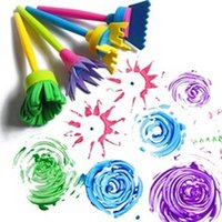 Creativity Developing sponge paint set - set DIY Sponge Drawing Paint Brushes Graffiti Toys Painting Creative Gift Toys for Children