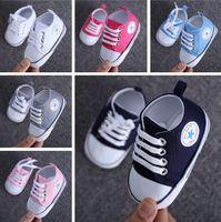 Wholesale Cheap Rubber Flooring Wholesale - Candy color canvas soft floor leisure school toddler shoes 2017 spring lace indoor walking stumble infant cheap prewalker L143