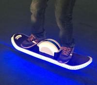 um scooter elétrico rodado venda por atacado-Uma roda Unicycle Auto Balanceamento de Terra Scooter Surfar de Pé Skate Elétrico 36 V 4400 mAh com LED Hoverboard FREE FEDEX