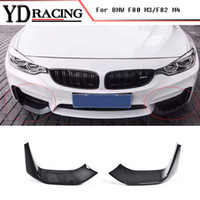 Car Styling Carbon Fiber Racing anteriore Lip Splitter Flap Cupwings per BMW Serie 4 F80 M3 F82 M4 Bumper Solo 2015-2017